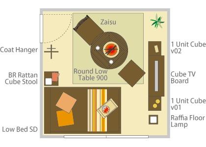 8畳の基本レイアウト2