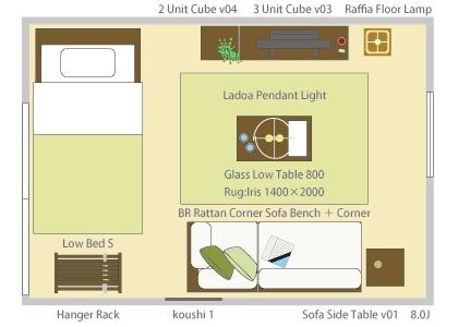 8畳の基本レイアウト3