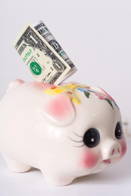 貯金箱とお金3